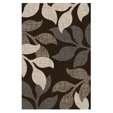 Lexington Chocolate Large Leaves Rug