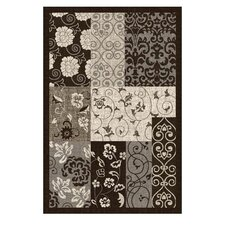 Lexington Chocolate Floral Rug