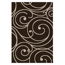 Lexington Chocolate Vine Swirl Rug