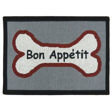 PB Paws & Co. Multi Bone Appetit Tapestry Rug