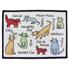PB Paws & Co. Multi Cat Show Tapestry Rug
