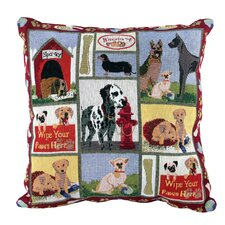 PB Paws & Co. Cotton Dog Days Decorative Pillow