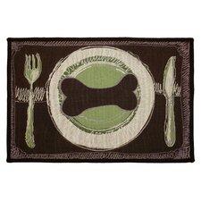 PB Paws & Co. Leaf / Pesto Dog's Dinner Tapestry Rug