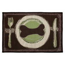 PB Paws & Co. Leaf / Pesto Dog's Dinner Tapestry Rug