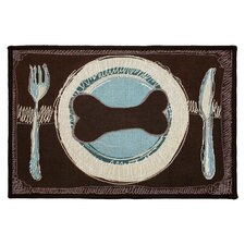 <strong>Park B Smith Ltd</strong> PB Paws & Co. Woodland / Sea Spray Dog's Dinner Tapestry Rug