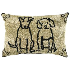 PB Paws & Co. Cotton Dog Friends Decorative Pillow