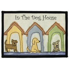 PB Paws & Co. Multi Dog Houses Tapestry Rug