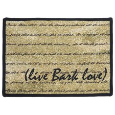 PB Paws & Co. Gold / Black Live Bark Love Tapestry Rug