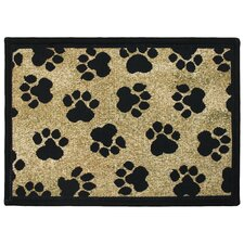 PB Paws & Co. Gold World Paws Tapestry Rug