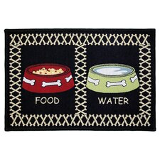 PB Paws & Co. Multi / Black Meal Time Tapestry Rug
