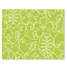 Season Lotus Green/White Kids Rug
