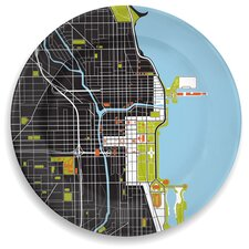 "City On A Plate 12""Chicago Dinner Plate"