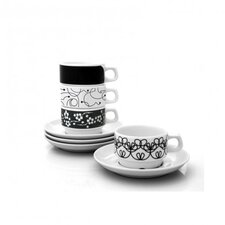 In-The-Mix Cup and Saucer Set (Set of 4)