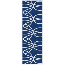 Ribbon Blue Area Rug