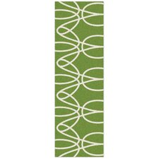 Ribbon Green Area Rug