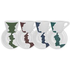 Face/Vase Espresso Set (Set of 4)