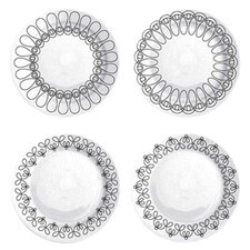 "Ribbon 8.25"" Salad Plate Set (Set of 4)"