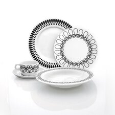 Black Ribbon Dinnerware Set