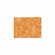 Season Persimmon Orange/White Kids Rug