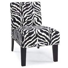 Deco Zebra Slipper Chair