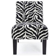 Deco Zebra Fabric Slipper Chair
