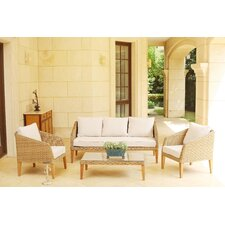 Sea Ranch 4 Piece Deep Seating Group with Cushions