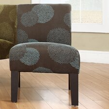 Deco Sunflower Fabric Slipper Chair