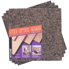 "12"" x 12"" x 0.25"" Dark Cork Tile (4 Pack)"