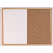 Combination Dry Erase 1.4' x 1.88' Bulletin Board
