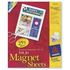 5 Count Magnet Sheet in White