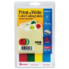 1008 Count Color Coding Label (Set of 6)