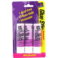 3 Count .26 Oz Disappearing Glue Stic (Set of 6)