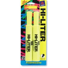 2 Count Yellow Fluorescent Hi-Liter (Set of 6)