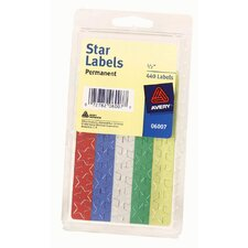 "5/8"" Colored Star Label (Set of 6)"