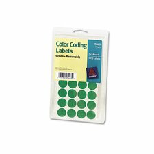 Print or Write Removable Color-Coding Labels