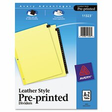 Clear Reinforced Preprinted  Tab Dividers inRed Leather