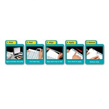 Index Maker Clear Label Punched White Dividers with Color Tabs