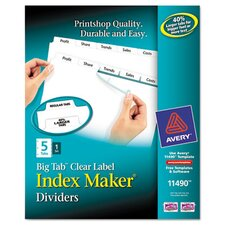 Index Maker with Big Tab