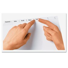 Index Maker Clear Label Dividers