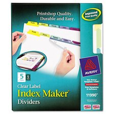 Index Maker Clear Label Dividers with Contemporary Color Tabs