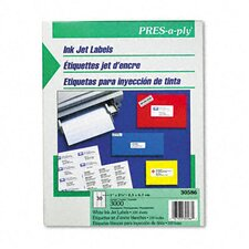 Pres-A-Ply 30-Up Inkjet Address Labels, 3000/Box (Set of 2)
