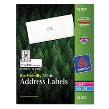 EcoFriendly Laser and Inkjet MailingLabels