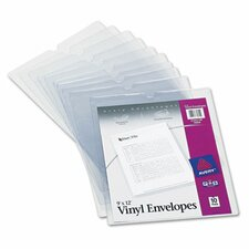 <strong>Avery</strong> Top-Load Clear Envelopes with Thumb Notch, 10/Pack