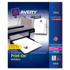 Print-On Divider