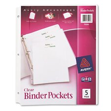 <strong>Avery</strong> Binder Polypropylene Pocket (5 Pack)
