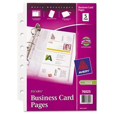 Business Card Binder Page (5 Pack)