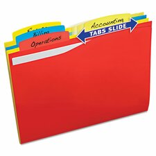 Slide and Lift Tab File Folder (24 Pack)