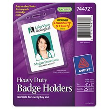 Heavy Duty Badge Holders (25 Pack)