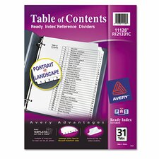 Ready Index Classic Tab Title (31 Pack)