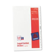 Legal Side Tab Divider (26 Pack)
